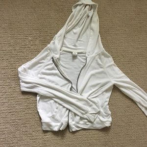 Abercrombie and fitch white full zip hoodie